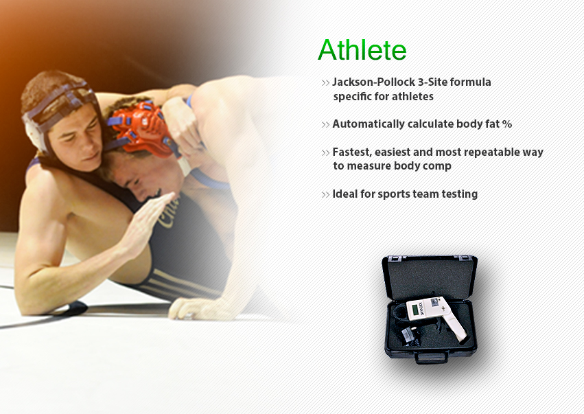 Skyndex Skinfold Caliper for body fat composition measurement using jackson-pollock 3-site formula