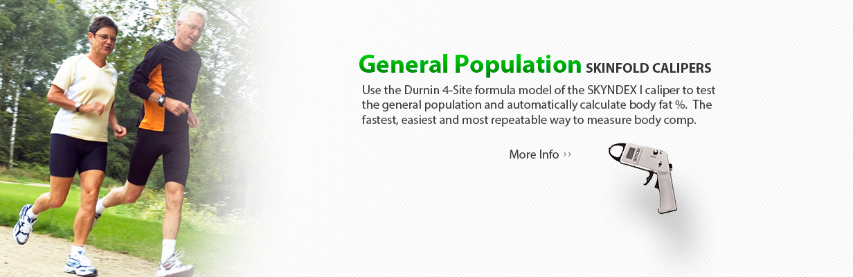 Skyndex Skinfold Calipers General Population Durnin Formula